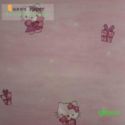 3D Cartoon Design PVC-Wandpapier für Kinder Schlafzimmer