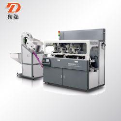 Las tapas de botella/Rotuladores/tubos o tapas de color de pantalla automática de 2 máquina de impresión UV +1 Hot Stamping máquina