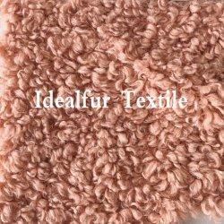 Cor sólida encaracolado pilha curta Imitação de peles de lã