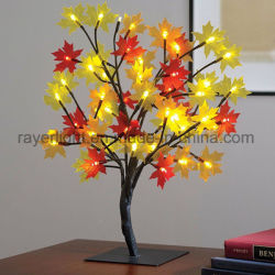 Weihnachtstisch Decorationsled Ahornholz-Baum-Zweig-Licht des Ahornholz-Entwurfs-LED