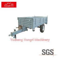 de Dubbele Aanhangwagen met 4 wielen van het Landbouwbedrijf van de Stortplaats van de Tractor van het Landbouwbedrijf van de As Tippende