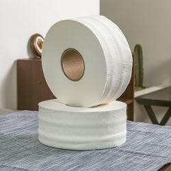 Toilettenpapier-Gewebe-riesige Rolle 100% des Jungfrau-hölzerne Massen-materielles natürliches Weiß-1ply-3ply