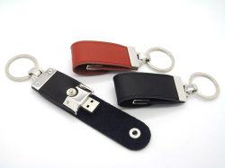 ロゴによって印刷されるビジネスギフトの革USBの棒4GB 8GB 16GB