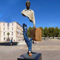 Custom статую Большого для использования вне помещений с ограниченным бюджетом металлические искусства бронзовая скульптура Man