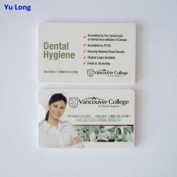 Carte de la soie dentaire pour la promotion du Bureau du dentiste