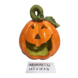 Usine de gros cadeau de résine d'artisanat polyresin decoration Halloween citrouille
