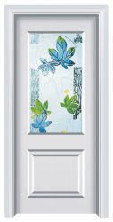 Europäische Art-weiße Innenhölzerne Stahltür (FXGS-076)