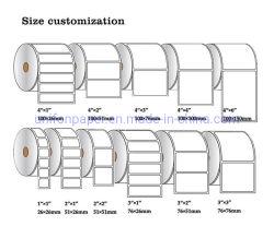 Térmica directa personalizada rodillo de transferencia térmica de etiquetas y etiquetas para impresora Zebra