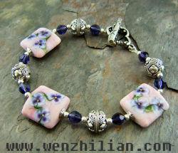 Bracelet de Le site Lampwork Bracelet de bijoux (WZL0063-LSL)