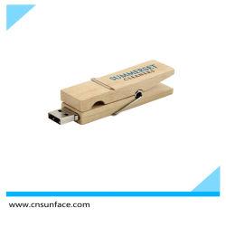 우드 클립 USB 플래시 드라이브