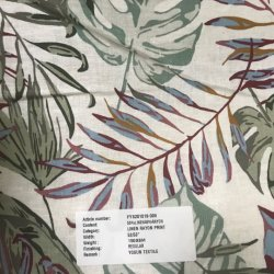 리넨 길쌈하는 레이온에 의하여 인쇄되는 직물 리넨 인쇄