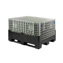 1200*1000*595Heavy Duty Matériel de stockage de palettes en plastique Boîte pliante
