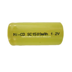 Sc1500mAh 1,2V, rechargeables Ni-CD Batterie cylindrique