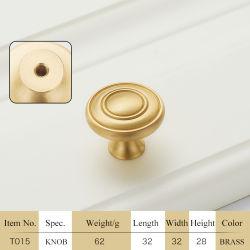 Европейский стиль поддельных чистой меди мебель потянуть за ручку T015
