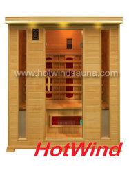 2019 de Verre Infrarode Sauna van de Zaal van de Sauna Draagbare Houten voor 4 Mensen (sek-DP4)