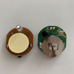 배터리 LED 디스플레이의 LED가 작고 깜박이며 접착제가 있습니다 스티커