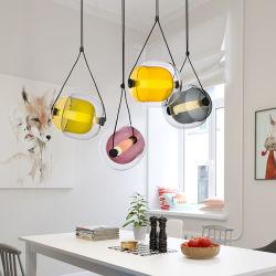 북유럽 유리제 최소한 현대 호화스러운 디자이너 예술 샹들리에 펜던트 빛