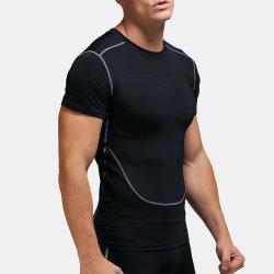 Executando respirável em branco T-Shirts Desgaste Formação Ginásio Fitness homens camisola T