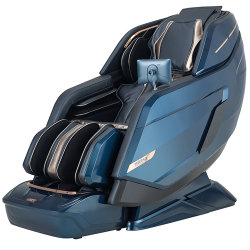 Un gran sillón de masaje Shiatsu americano caliente con conexión inalámbrica a la carga