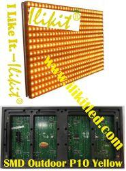 Cms extérieure étanche IP65 P10 Modules LED de couleur jaune, l'affichage, de la publicité, de l'écran, le déplacement de signe de panneaux