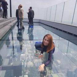De extra Duidelijke Transparante Gelamineerde Bevloering van de Bril van de Veiligheid met Tussenlaag Sgp voor de Vloer van het Glas Skywalk