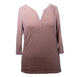 قميص لسيدة الربيع على شكل V-Neck، ملابس أنيقة بلوزة غير رسمية، قميص مطبوع على الموضة، ملابس ناتبة