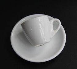 أبيض متحمّلة خزف [إسبرسّو] [كب ند سوسر], 2 [أز] صغيرة [دميتسّ] فنجان مع مقبض, [كفّ كب] بالغ الصّغر يثبت لأنّ قهوة/شام