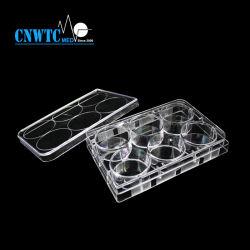 المواد المستهلكة في المختبر تكتم الأنسجة ذات القاع المسطح ذات 6 الآبار مع معقمة