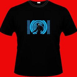 Maglietta luminescente elettronica (maglietta) di EL (EL T009)