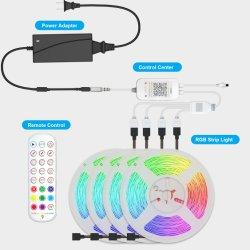 Не является водонепроницаемым 5050 RGB SMD 10m 180индикаторы Bluetooth Smart ламп комплекты с 24 ключевых светодиодный индикатор работы рождественские украшения лампа датчика