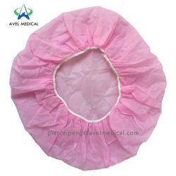Desechables Nonwoven PP /Dental / Enfermería/Matorral Bouffant/Ronda/plisado/Strip Clip tapa una vez utilizar Mob sombreros redondos de plástico para el trabajador médico