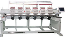 中国6の自動デザインソフトウェアが付いているヘッドによってコンピュータ化される刺繍機械