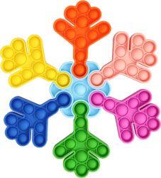 جودة جيدة تربوية القلق راحة فقاعة لعبة حسية سيليكون مضحك لعبة على شكل رقائق الثلج لغز fidget