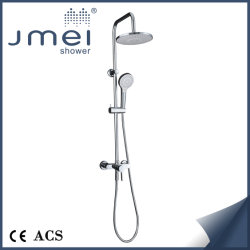 Couleur Chrome douche & Colonne de douche fixe (L-02) en acier inoxydable mais avec robinet en laiton