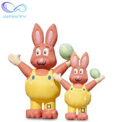 Inflable de 3D Vacaciones patio al aire libre decoraciones decoración de conejito de Pascua gigante inflables para publicidad