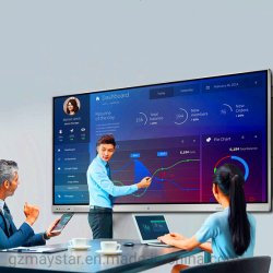 """65"""" ~ 100"""" de la pantalla LCD de 4K UHD electrónica de infrarrojos en una pantalla multitáctil de pizarra interactiva con micrófono de la cámara tanto para la Reunión y educación"""