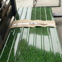 Cor de aço revestido a chapa de tejadilho Fornecedor da Bobina 24 Gauge zinco metálico galvanizado Cimento Telhas Onduladas Folhas