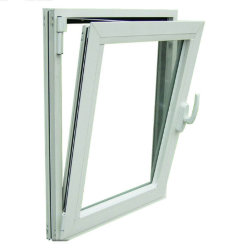 CE Standard de portes et fenêtres à battants UPVC Profils matériau PVC