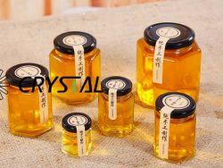 Pot de verre, de la nourriture, ustensiles de cuisine Jar stockage peut avec les couvercles en acier inoxydable