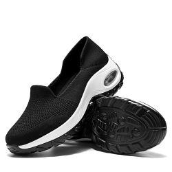 Flying tricoté Fashion Sneakers chaussures occasionnel des femmes d'exécution du stock de chaussettes de sport Chaussures coussin d'air