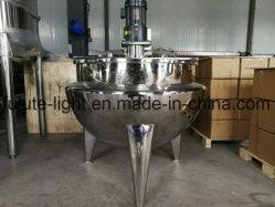 Stoom die van het Type van roestvrij staal de Industriële Verticale/Vaste het Dubbele Kooktoestel van de Ketel van het Jasje met Mengapparaat/Mixer voor Jam verwarmen