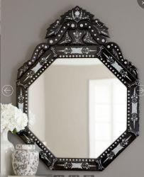 Il nero/specchio veneziano di attaccatura di parete della decorazione della casa specchio dell'argento
