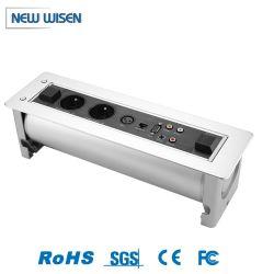Presa elettrica pieghevole per conferenza da tavolo con USB ribaltabile motorizzato Presa di corrente