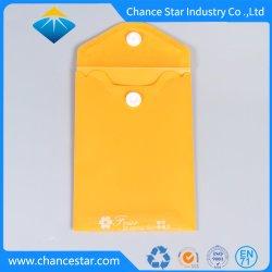 Sacchetto di plastica del documento dei pp stampato abitudine con il tasto a schiocco