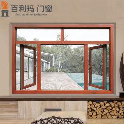Finestra di alluminio della stoffa per tendine del materiale da costruzione per la serra con grano di legno