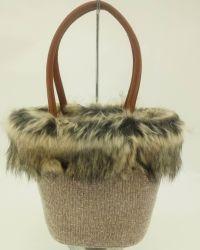 [سدإكس] مصنع شتاء شريط حقيبة مع [فوإكس] قطيفة زخرفة