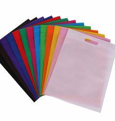 La fabbrica promozionale D riutilizzabile variopinta tagliata non tessuta trasporta i sacchetti di acquisto