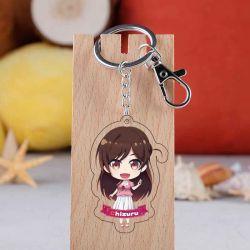 Anello portachiavi sveglio acrilico dell'anello chiave di Kanojo Okarishimasu della catena chiave della ragazza del Anime