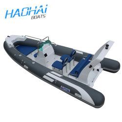 Rippen-Fiberglas-Rumpf-aufblasbares Rudersport-laufendes Boot des neues Modell-Cer-5.2m Yachat für Verkauf