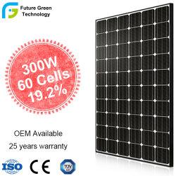 وحدة لوحة PV Solar بقدرة 285 واط بقدرة 300 واط عالية الجودة أحادية البلورات